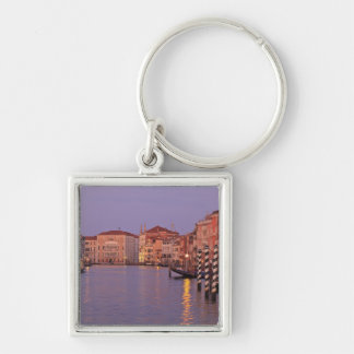 early morning Grand Canal Tour, Venice, Italy Silver-Colored Square Key Ring