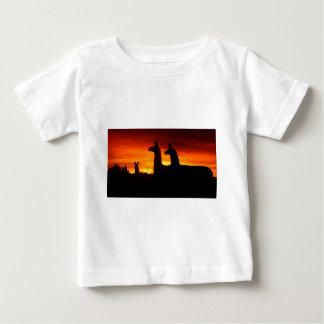 Early Morning Llamas Baby T-Shirt