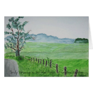 """Early Morning on the Blue Ridge""  Card"