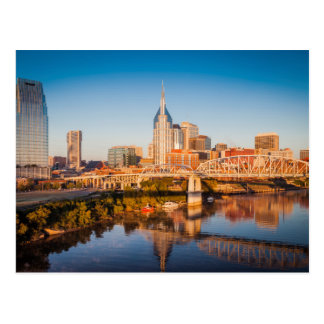 Early Morning Over Nashville, Tennessee, USA Postcard