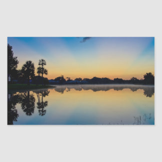 Early Morning Reflections Rectangular Sticker