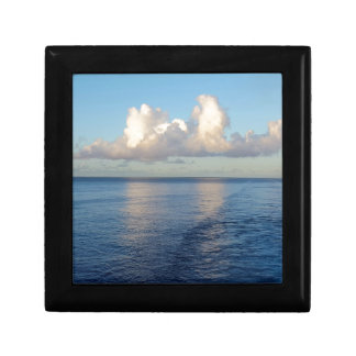 Early morning Seascape Cloud reflections Small Square Gift Box