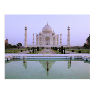 early morning view of the Taj Mahal reflected in Postcard
