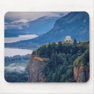 Early Morning View Of Vista House At Crown Point Mouse Pad