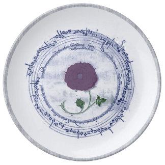 Early Music Manuscript Flower Porcelain Plates