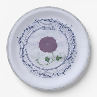 Early Music Manuscript Flower 9 Inch Paper Plate