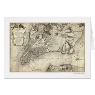 Early New York City Map 1776 Card