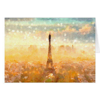 Early Paris Morning Greeting Card