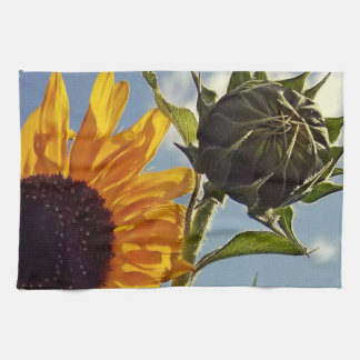 Early Riser Sunflower Kitchen Towel