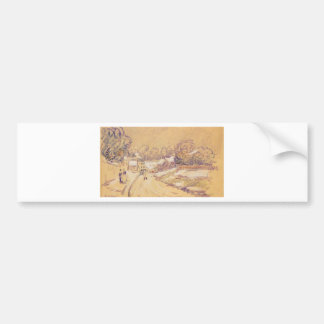 Early Snow at Louveciennes by Alfred Sisley Bumper Sticker