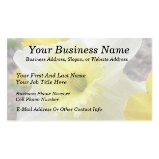 Early Spring Daffodil Business Card Templates