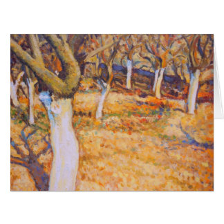 Early Spring in Apple Orchard Card