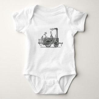Early Steam Locomotive Baby Bodysuit