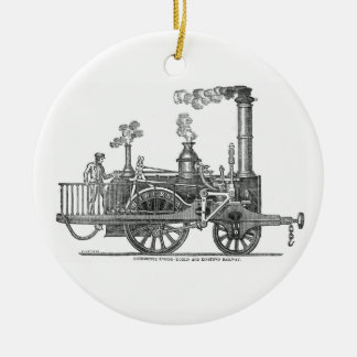 Early Steam Locomotive Ceramic Ornament