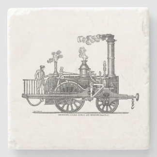 Early Steam Locomotive Stone Coaster