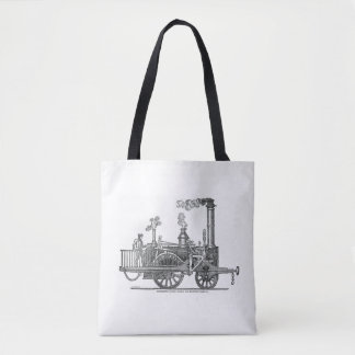 Early Steam Locomotive Tote Bag