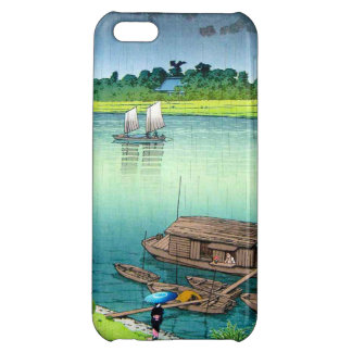 Early Summer Rain. Kawase Hasui river scenery iPhone 5C Cover