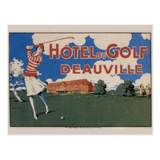 Early Vintage French Golf Postcard w Female Golfer