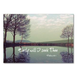 Early Will I seek Thee Bible Verse Card