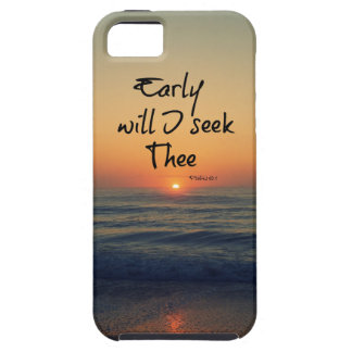Early will I seek Thee Bible Verse Ocean Sunrise iPhone 5 Cover