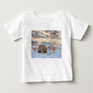 Early Winter Barn Scene Baby T-Shirt
