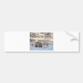 Early Winter Barn Scene Bumper Sticker