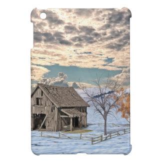 Early Winter Barn Scene iPad Mini Cover