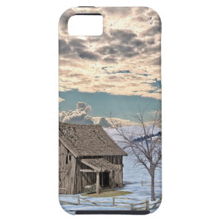 Early Winter Barn Scene iPhone 5 Case