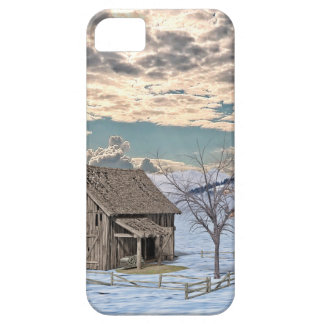 Early Winter Barn Scene iPhone 5 Cases