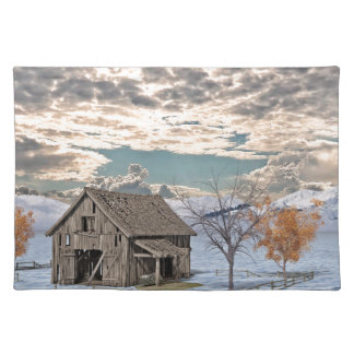 Early Winter Barn Scene Placemat
