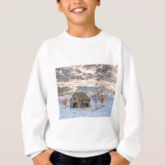 Early Winter Barn Scene Sweatshirt