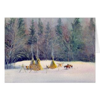 EARLY WINTYER TIPI CAMP by SHARON SHARPE Card