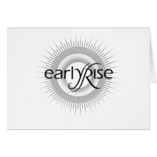 EarlyRise Design 2 Greeting Card