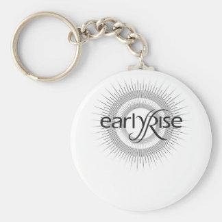 EarlyRise Design 2 Basic Round Button Key Ring