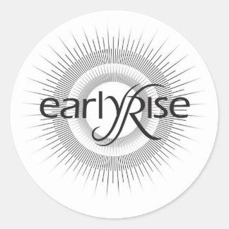 EarlyRise Design 2 Round Sticker