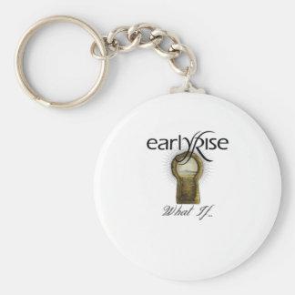 "EarlyRise ""What If"" Design 1 Basic Round Button Key Ring"