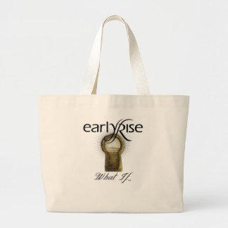 "EarlyRise ""What If"" Design 1 Jumbo Tote Bag"