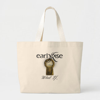 """EarlyRise """"What If"""" Design 1 Canvas Bag"""
