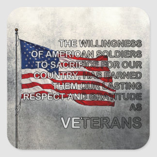 Earned Gratitude Veterans Day Stickers