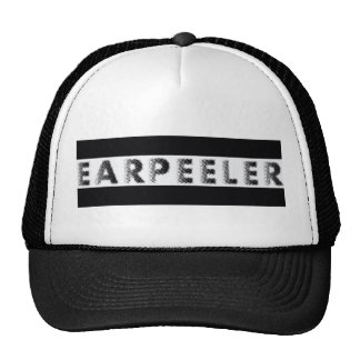 earpeeler black & white trucker hat