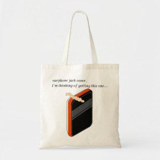 earphone jack cover budget tote bag