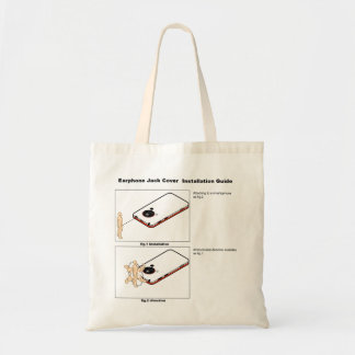 Earphone Jack Cover Installation Guide Budget Tote Bag