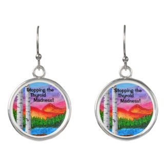 EARRING ART by Janie Bowthorpe - Thyroid Madness! Earrings