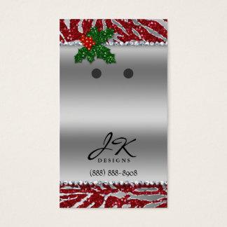 Earring Display Cards Zebra Chandelier Jewelry