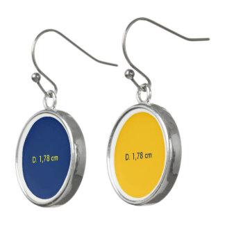 Earrings uni Blue-Yellow