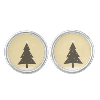 Earrings with Trees : old yellow Cuff Links