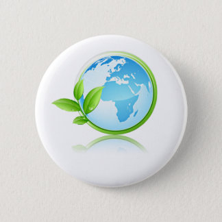 Earth 6 Cm Round Badge