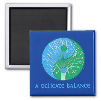 Earth,  A Delicate Balance Tshirts, Mugs Square Magnet