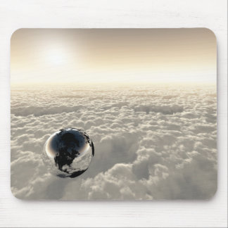 Earth above the Clouds Mouse Pads