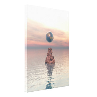 Earth Above The Sea Gallery Wrapped Canvas